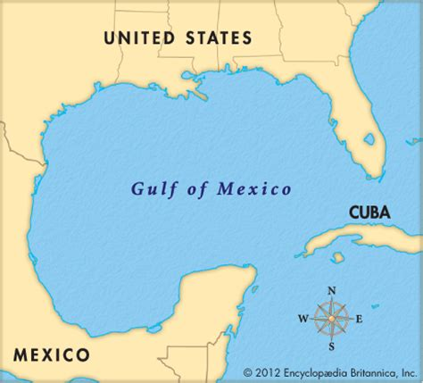 map of gulf of mexico gulf of mexico encyclopedia children s homework help dictionary britannica