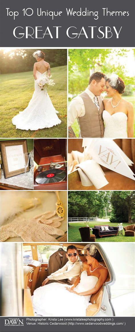 great gatsby wedding themes top 10 wedding themes