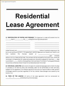 Sle Rental Agreement Letter by 6 Rental Agreement Template Printable Receipt