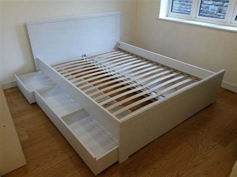 ikea brusali bed review ikea brusali double bed with under bed storage drawers
