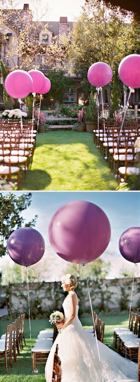 Wedding Aisle Balloons by 18 Awesome Wedding Ideas To Use Balloons Emmalovesweddings