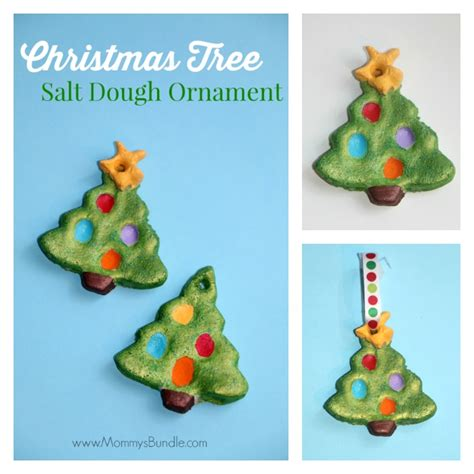 fingerprint christmas tree salt dough ornament mommy s