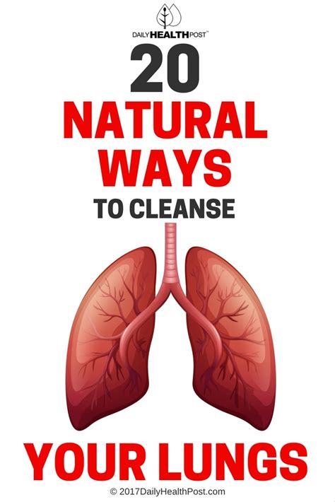 Top Ten Ways To Detox Your by 20 Lung Cleanse Remedies To Breathe Better And