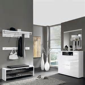 garderobe schwarz weiß garderoben set calbany in schwarz wei 223 wohnen de