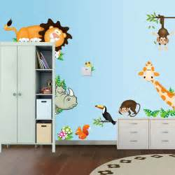wall sticker for kids cute jungle wild animals lovely wall sticker for kids room