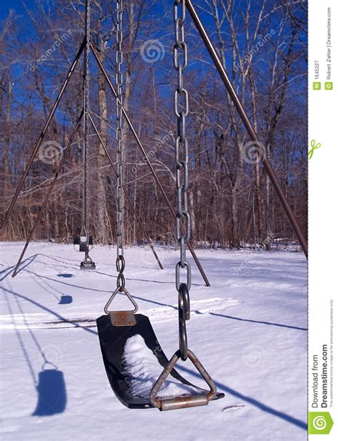 Winter Swing Royalty Free Stock Photography Image 1645227