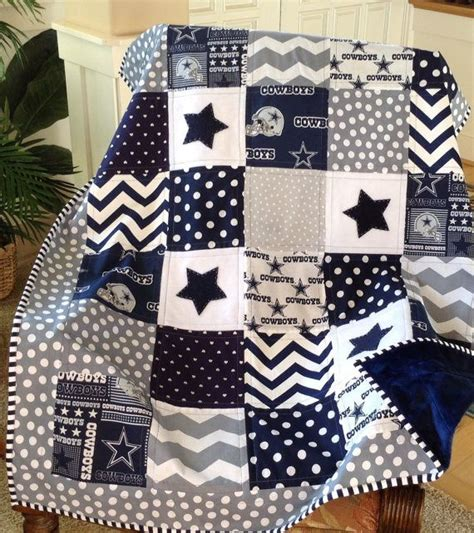 s dallas cowboys gray navy dallas cowboy quilt in gray navy and white by