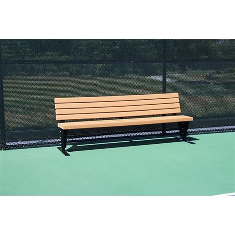 tennis benches for courts suntrends court bench with backrest 4 from do it tennis