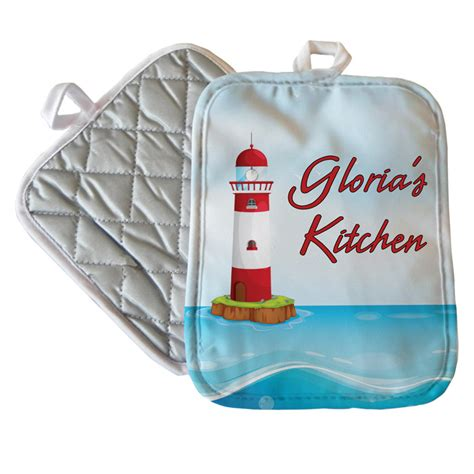 personalized nursing light house personalized lighthouse pot holder personalized pot holders at tagdesigns com
