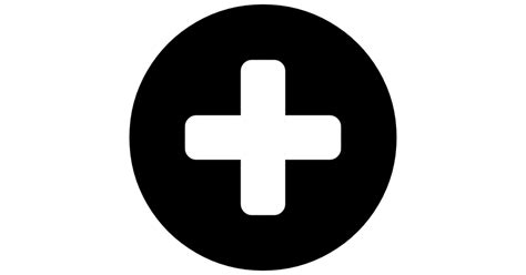 The Sign Black plus sign in a black circle free signs icons