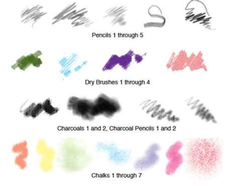 sketchbook pro brushes for photoshop 20 free chalk charcoal and graphite brushes by dave nagel