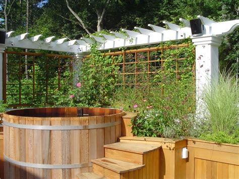 whirlpools für den garten inspiration til terrassen