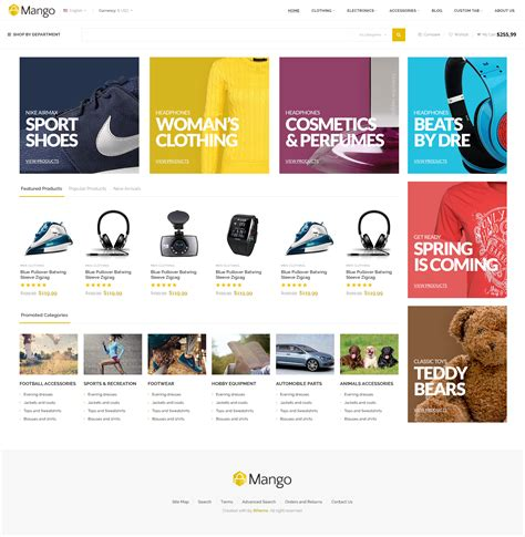 header design ecommerce mango responsive ecommerce html5 template by 8theme