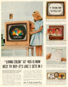 when was color tv introduced documentation rca color tv set 21 ct 7855u