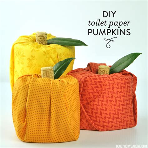 Toilet Paper Pumpkins Craft - diy toilet paper pumpkins barone