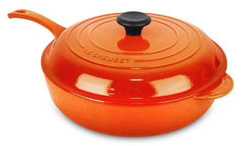 le creuset pot le creuset signature cast iron deep saute pan 4 25 quart flame cutlery and more