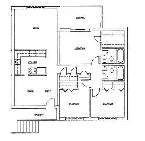 floor plans for a house 3 bedroom apartmenthouse plans 50 three 3 bedroom apartment house plans architecture