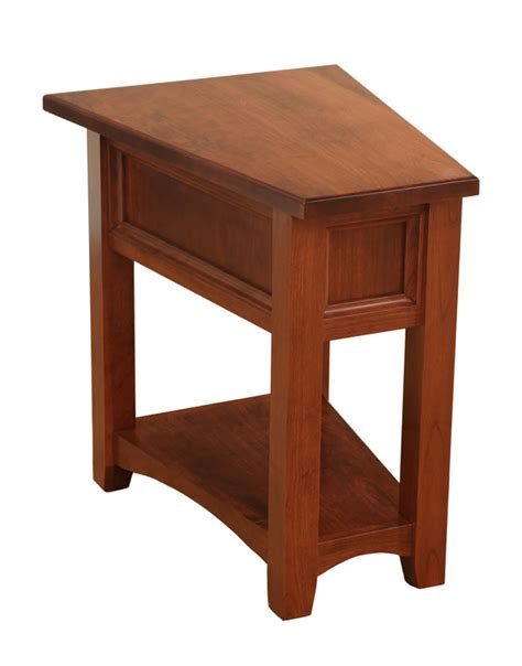 wedge accent table open garnet hill wedge end table ohio hardword