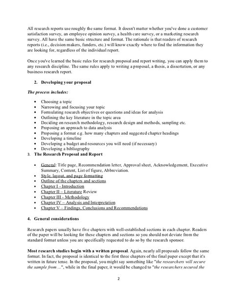 Detailed Outline Of Research Proposal Marketing Research Outline Template