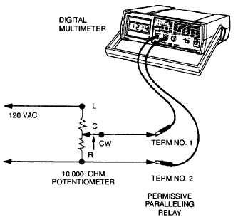 Figure 2 15 Permissive Paralleling Relay Test Set Up