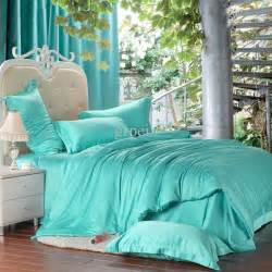 Colorful Duvet Covers King Luxury Solid Turquoise Blue Green Comforters Bedding Set