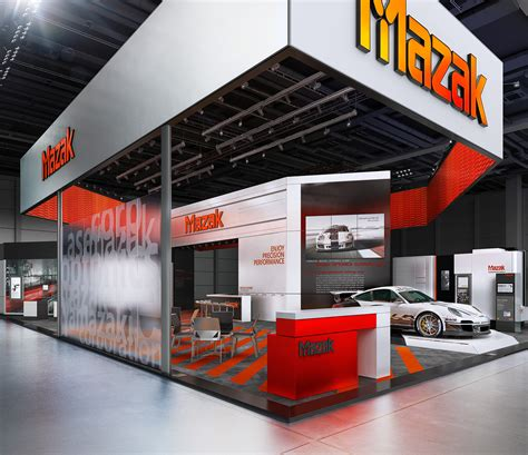 exhibition booth design japan mazak blechexpo 2015 on behance