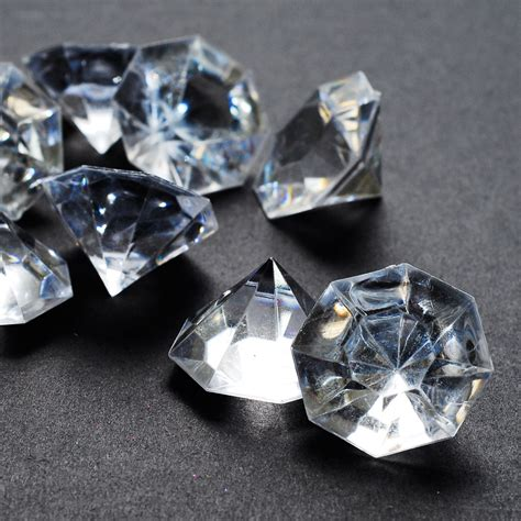 acrylic large flat diamond gems 1 inch table scatter