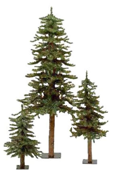 artificial christmas tree 3 pcs sets set of 3 alpine artificial trees 2 3 4 unlit and living healthy eco