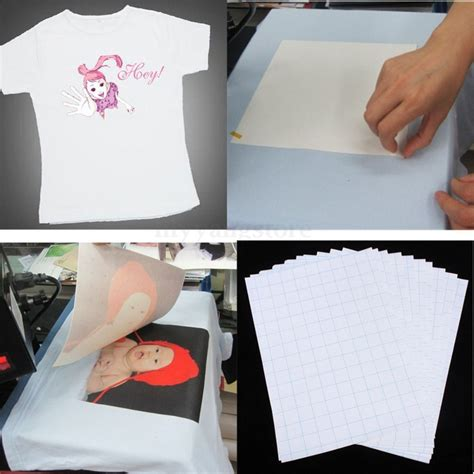 printable fabric transfer paper nice 10pcs sheets t shirt a4 iron on inkjet heat transfer