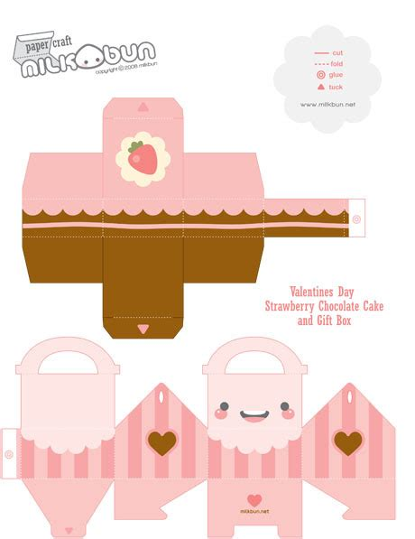 Papercraft Box Template - cake box research on packaging