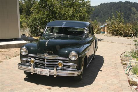 plymouth antiques 1949 vintage antique 4 door plymouth car deluxe base 3 6l