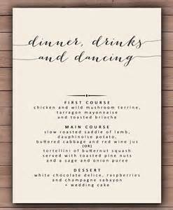 rehearsal dinner menu template sle menu for wedding rehearsal dinner the best