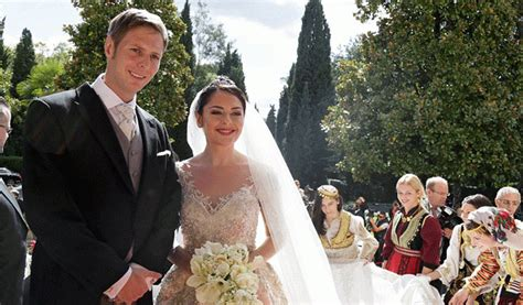 albanian prince marries  countrys   royal