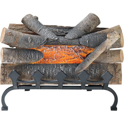 electric fireplace that crackles pleasant hearth 20 quot wood electric crackle log with