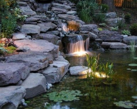 waterfall in backyard 75 relaxing garden and backyard waterfalls digsdigs