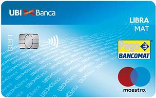 bancomat ubi carta di debito libramat