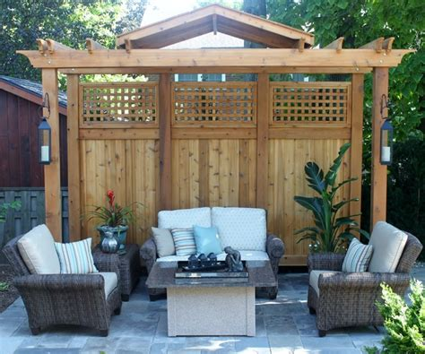 pergola privacy screen contemporary landscape toronto by rooms blooms