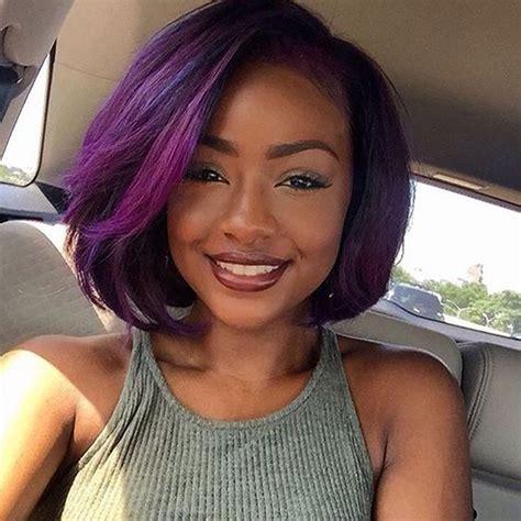 purple lace front bob wigs for black women 1b purple short bob wig full lace glueless lace front