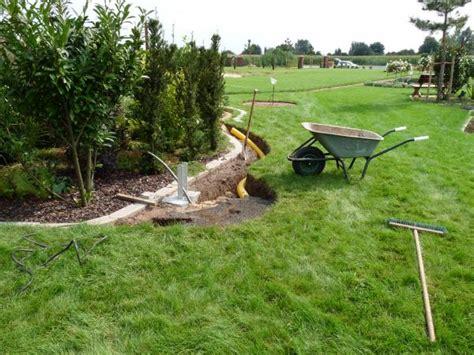 drainage verlegen anleitung mit bilder 6797 ausheben drainage verlegen vom 26 08 2009