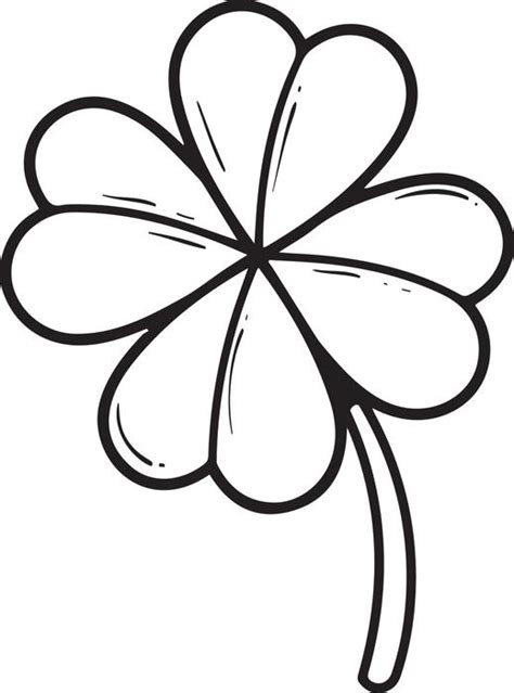 coloring page four leaf clover free printable four leaf clover coloring page for kids