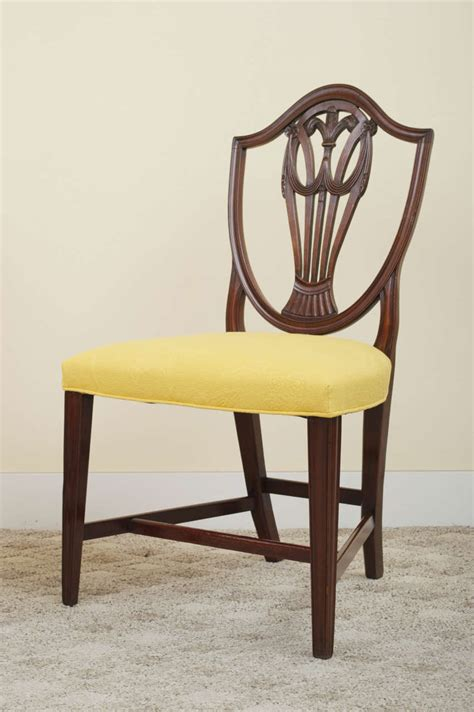 hepplewhite shield back chairs pair of 19th century mahogany hepplewhite style shield