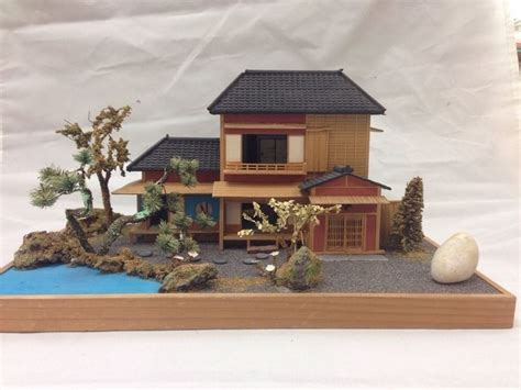 house diorama vintage miniature japanese house diorama figure