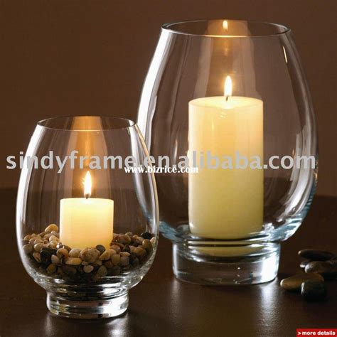 Candle Glass Colorful Glass Hurricane Candle Holder For Home Decoration