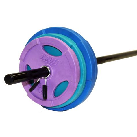 troy colors troy tlw 40gc color lightweight barbell set