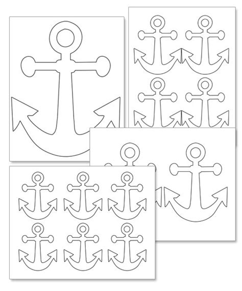 printable coloring bookmarks with anchors coloring pages