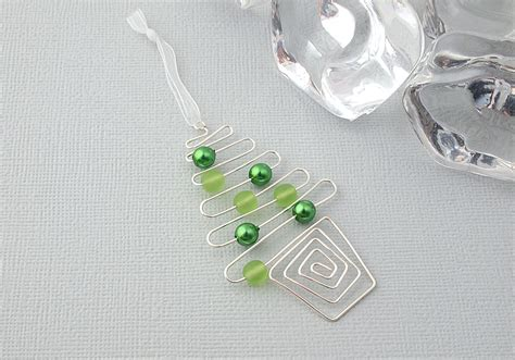 Green Decorations For Home green christmas tree wire decoration by ciel creations