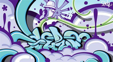 wallpaper graffiti name graffiti wallpapers purple chirper in an old school kangol