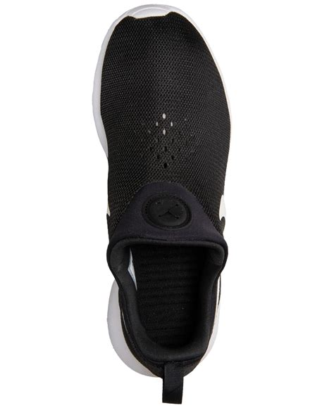lyst nike mens roshe run slip on casual sneakers from finish line in black for
