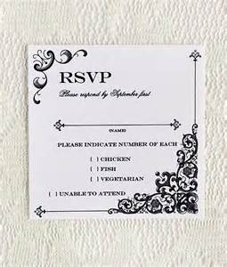 Wedding Rsvp Cards Template Free by Vintage Iron Lace Square Rsvp Template Print
