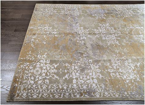 Karpet Rug Persegi Blend S wool and silk blend area rugs meze